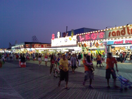 Seaside Heights (NJ) Boardwalk in August 2009.  Little did we know that in over three years is would wind up in the Atlantic?  (Photo by Me)