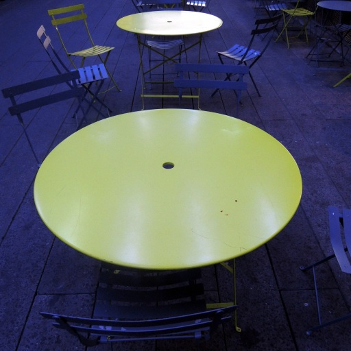 The table is empty...